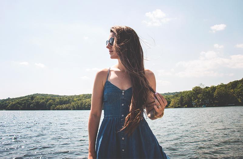 Denim Dress | End of Summer Blues